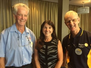 Mike and Bruce with Julie Jardine
