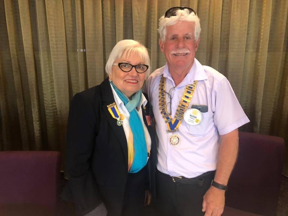 DG Lorraine Coffey with President Ross Paull